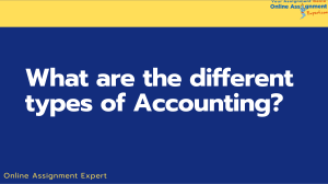 What are the different types of Accounting