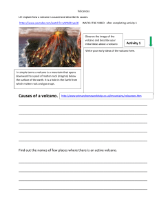 How are volcanoes caused?