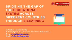 Bridging the gap of the educational system across different countries through E-Learning - Phdassistance.com