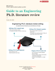 Guide to an Engineering PhD literature review - Phdassistance.com
