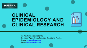 Clinical Epidemiology and Clinical Research - Pubrica