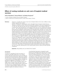 Effect of costing methods on unit cost of hospital medical service
