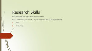Research Skills for EE-