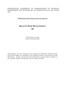 Q9 Guideline -QUALITY RISK MANAGEMENT