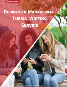Business and Management Thesis Writing Service | PhD Dissertation Writing Help - Phdassistance.com