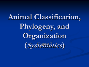 fdocuments.net animal-classification-phylogeny-and-organization-systematics-chapter