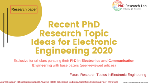 Recent PhD Research Topic Ideas for Electronic Engineering 2020 - Phdassistance.com