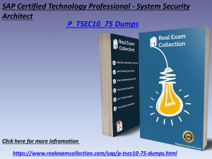 Free SAP P_TSEC10_75 dumps - Pass P_TSEC10_75 Exam - RealExamCollection