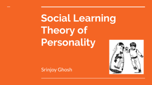 Social Learning Theory of Personality