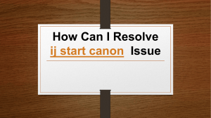 How Can I Resolve ij start canon  Issue