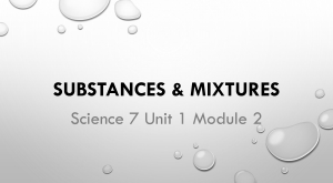 Sci7U1M2 Substances-Mixtures
