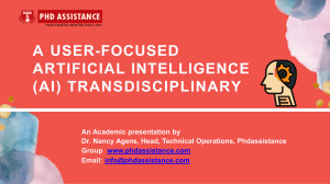 A User-Focused Artificial Intelligence (AI) Transdisciplinary Study Strategy-Supported Health Technology Management - Phdassistance.com