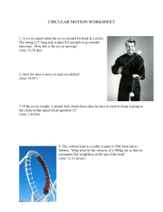 Circular Motion worksheet