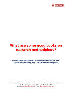 What are Some Good Books on Research Methodology? - Phdassistance.com