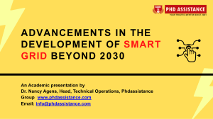 Advancements in the development of Smart Grid Beyond 2030 - Phdassistance.com