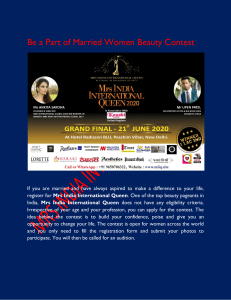 Be a part of married women beauty contest-converted