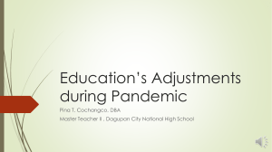 Education Amidst the Pandemic