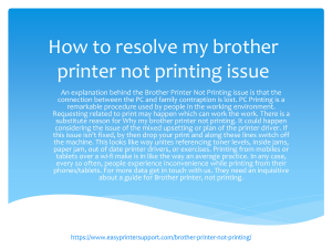 How to resolve my brother printer not printing