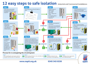 12 steps to safe isolation IND COM 270317