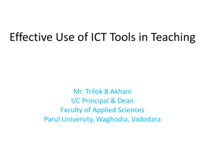 Effective Use of ICT Tools in Teaching