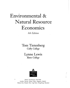 Environmental and natural resource econnomics