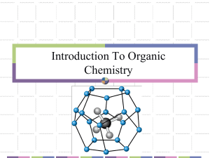 Topic 11 Introduction To Organic Chemistry