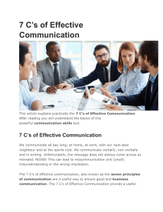 7 C's of Business Communication