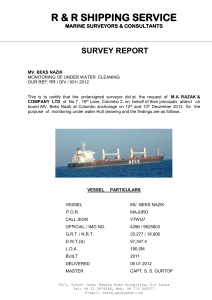BEKS NAZIK HULL CLEANING REPORT