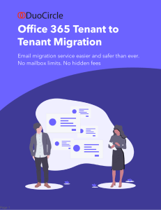 Office 365 Tentant to Tenant Migration