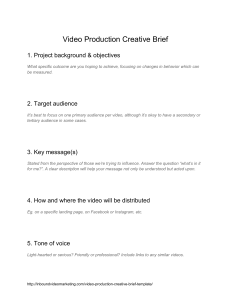 VideoProductionCreativeBrief