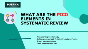 What are PICO elements in systematic review - Pubrica