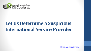 Let Us Determine a Suspicious International Service Provider