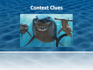 Context Clues -Finding Nemo