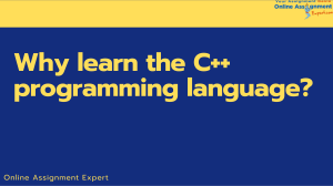 Why learn the C++ programming language