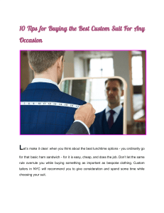 10 Tips for Buying the Best Custom Suit For Any Occasion