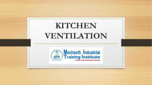 Ventilation of Commercial Cooking Operation
