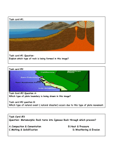 Earth Science review task card lessons