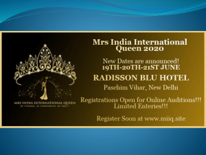 Participate in the Top Beauty Pageant in India