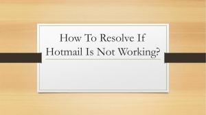 How To Resolve If Hotmail Is Not Working
