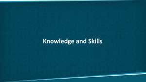 Knowledge and Skills List PMI-ACP