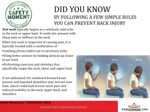 Back Injury Prevention HSE bulletin