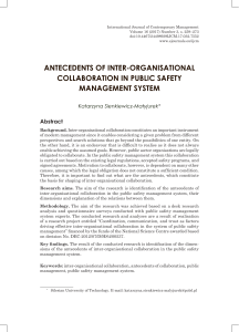 antecedents of inter-organisational collaboration