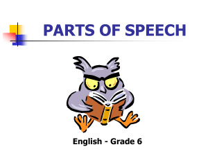 PARTS OF SPEECH-GRAMMAR