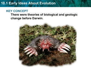Biology Ch. 10 Notes-Principles of Evolution