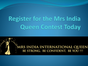 Register for the Mrs India Queen Contest Today