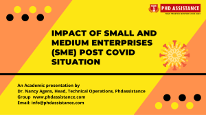 Impact of Small and Medium Enterprises (SME) post Covid situation - Phdassistance.com