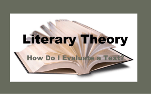 Literary Theory Powerpoint