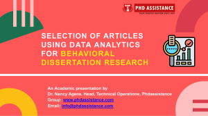 Selection of Articles using Data Analytics for Behavioral Dissertation Research -Phdassistance.com