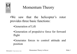 3-Momentum Theory in hover