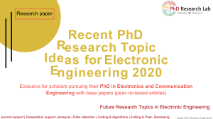 Recent Phd Research Topic Ideas for Electronic Engineering 2020 - Phdassistance